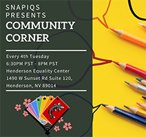 Community Corner with Snapiqs @ Henderson Equality Center