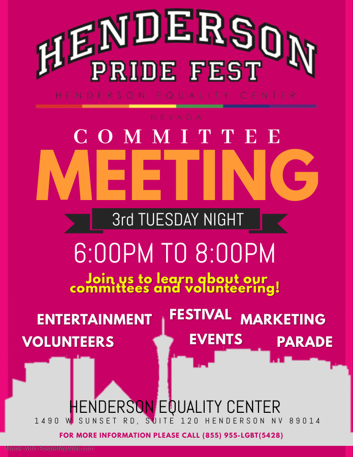 Pride Fest Planning Committee - Henderson Equality Center