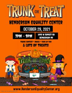 Trunk - or - Treat @ Henderson Equality Center