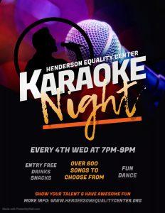 Karaoke Night @ Henderson Equality Center