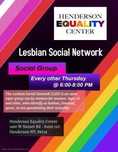 Lesbian Social Network - (LSN) @ Henderson Equality Center