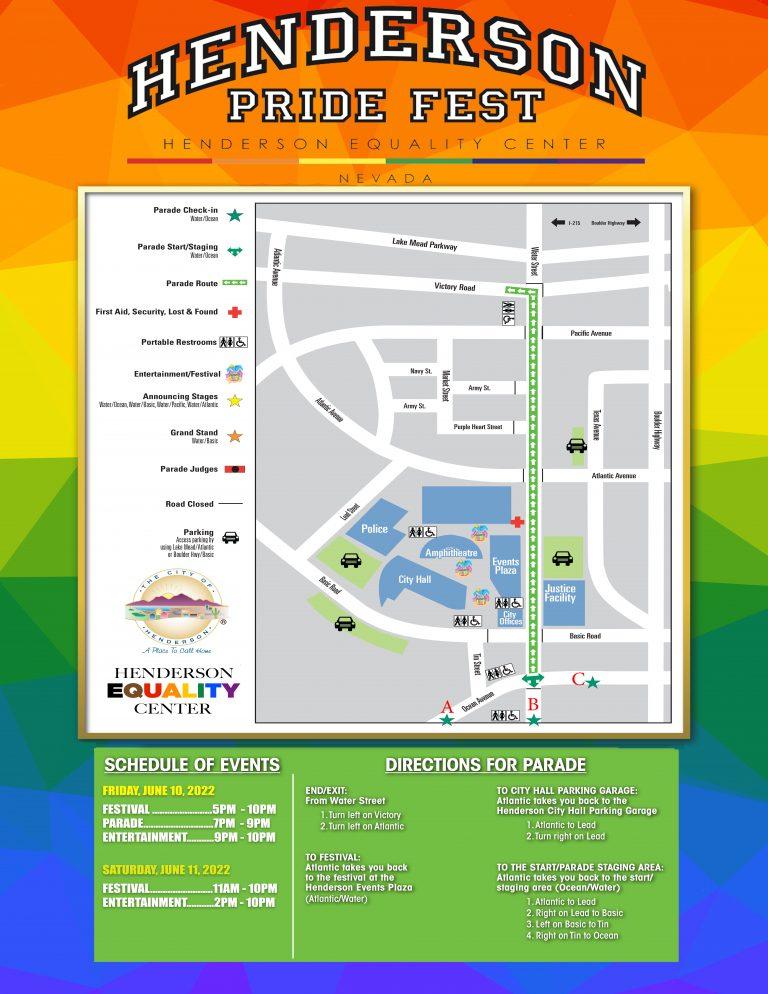 2022 HENDERSON PRIDE FEST PARADE MAP